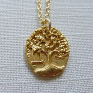 Gold Tree Swing Necklace